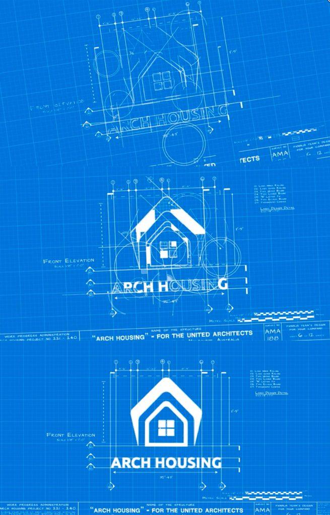 Анимация логотипа в стиле архитектуры