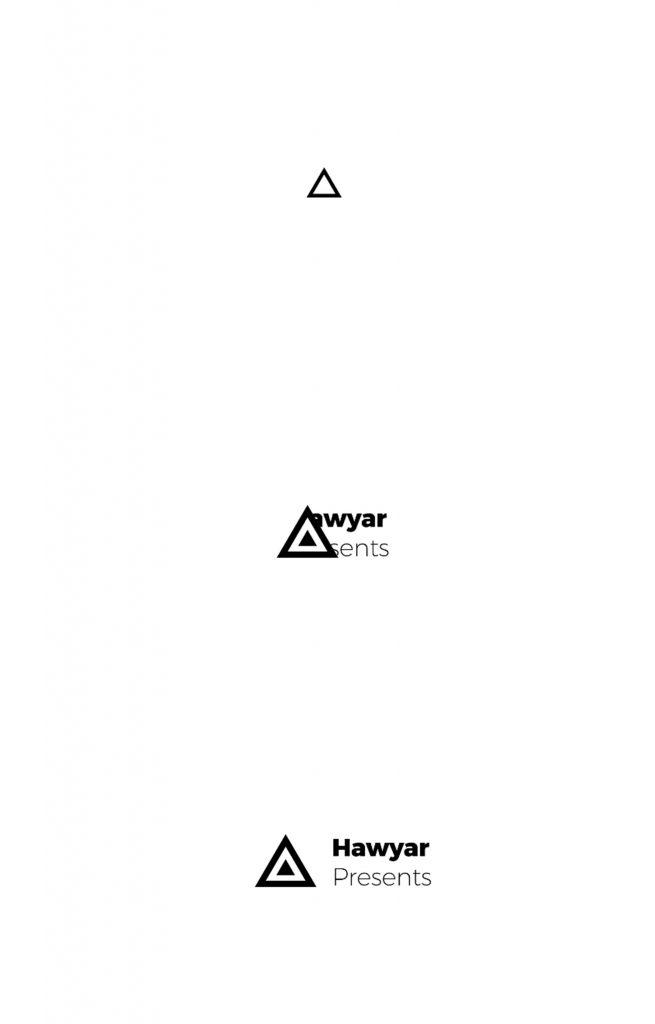 Минималистичная анимация логотипа с простом стиле